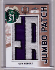 GUY HEBERT 17/18 Leaf Masked Men JUMBO PATCH #1/6 Card 3-color Nameplate! *RARE*