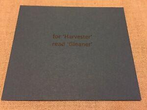 Ian Hamilton Finlay 'For 'Harvester' Read 'Gleaner' Wild Hawthorn Press
