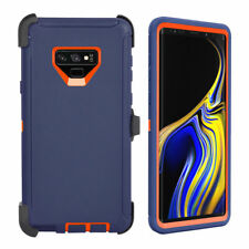 For Samsung Galaxy Note 9 Case Cover W/Clip Fit Otterbox Defender Navy Orange