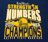 Golden State Warriors 2015 Finals NBA Champions T Shirt L Large Curry INV1875