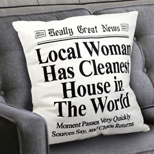 Mother's Day Gift for MOM Decorative Throw Pillow & Cotton Cover Funny Newspaper