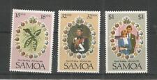 SAMOA 1981 ROYAL WEDDING SG,599-601 U/M NH LOT 7704A