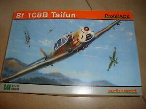 EDUARD Profi Pack Flugzeugbausatz 1:48 Bf 108B Taifun Ungebaut in OVP