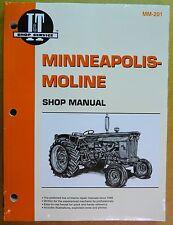 New Minneapolis Moline Shop Manual BF R U UB UTS U302 445 G707 G1000 Jet Star