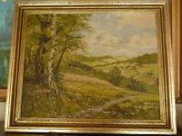 """Gemälde Bild """"Birkenwald"""" Gemälde auf Pappe in der Göße  70x58cm im Holzrahmen"""
