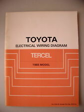 Toyota Electrical Wiring Diagram Tercel 1985 Model