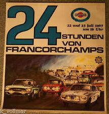 4 Farb Rennplakat  vom 24 Stundenrennen von Francorchamps / 22 u. 23 Juli 1967