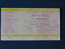 Motherwell v Glasgow Rangers - 31/12/94 - Ticket