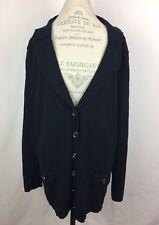 Lane Bryant Womens Cardigan Sweater Plus Size 22 24 Black Long Sleeve Collar New