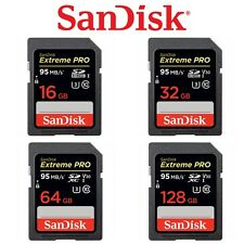 Sandisk Extreme Pro SD 64GB 32GB 128GB 256G SDXC DSLR Memory 4K UHS-II 300MB/s