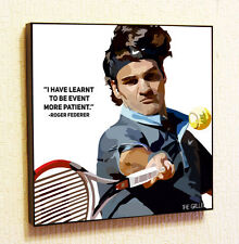 Roger Federer Tennis Sport Painting Decor Print Wall Poster Canvas Decals