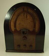 Vtg Philco Model 60 Cathedral Style Radio Receiver Tube Type Bakelite Knobs