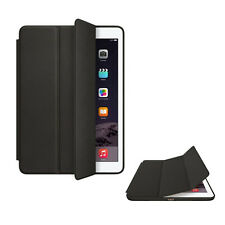 For Apple iPad Air 2 Genuine Leather Smart Case Cover Slim Wake Protector Black