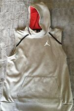 Air Jordan Boys Sleeveless Hooded Gray Sweatshirt Boys XL EUC