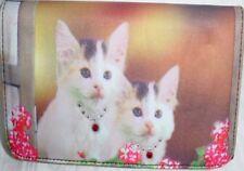 Kitten Microfiber Checkbook Wallet