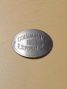 1893 Columbian Exposition Smashed Liberty Nickel Token