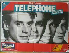 GROUPE TELEPHONE EN CONCERT -AFFICHE ORIGINALE –TRES RARE -UN AUTRE MONDE – 1984