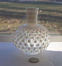 NICE  FANCY VINTAGE MILK GLASS PERFUME BOTTLE. 1930'S PERIOD