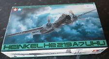 New sealed parts Tamiya 1:48 Heinkel He 219A-7 Uhu vintage model kit