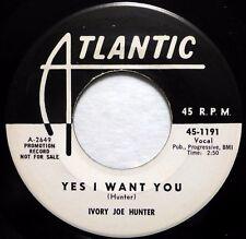 Ivory Joe Hunter 45 Sí i Want You / You Flip Me Baby Atlantic CD Música M- ws297
