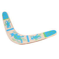 Wooden V-Shaped Returning Boomerang Outdoor Beach Catch Games Sports Toy