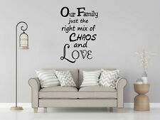 OUR FAMILY QUOTE LARGE VINYL DECAL Wall Floor Door Living room Sticker