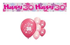 30th BIRTHDAY PARTY PACK DECORATIONS BANNER BALLOONS (AP.P.1)
