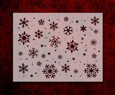 "Snowflakes Christmas Snow  8.5"" x 11"" Stencil FAST FREE SHIPPING (614)"