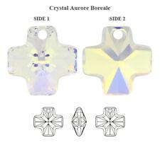 Genuine SWAROVSKI 6866 Cross Pendant Crystal AB 20mm