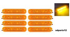 Set di 8 Luci a 6 Led Ingombro Laterale Fanale Fanalino Arancione 12/24V