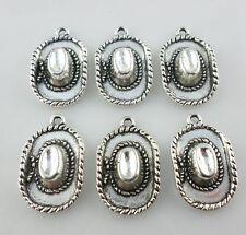 10pcs Tibetan silver Cowboy hat Charms Pendant 9*14mm