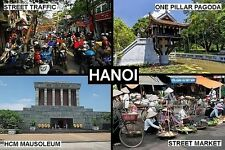 SOUVENIR FRIDGE MAGNET of HANOI VIETNAM
