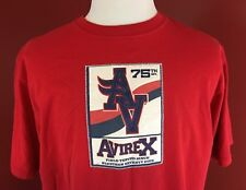 AVIREX 75th Division Red Field Tested T-Shirt Mens Large 100% Cotton