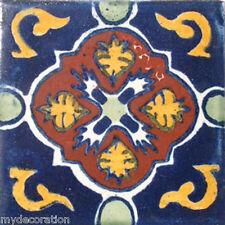 C#021) MEXICAN TILES CERAMIC HAND MADE SPANISH INFLUENCE TALAVERA MOSAIC ART