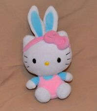 "8"" Hello Kitty Plush Dolls Toys Stuffed Animals Easter Bunny Ears Headband"