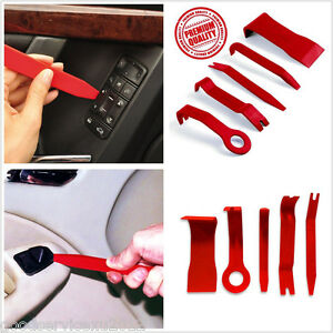 5 Pcs DIY Red Nylon Car Truck Door Panel Centre Console Pry Open Tool Repair Kit