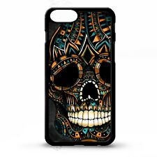 Skull aztec sugar skull day of the dead pattern print graphic phone case cover