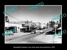 OLD LARGE HISTORIC PHOTO OF SPRINGHILL LOUISIANA, THE MAIN ST & STORES c1950 2