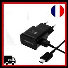 Câble Micro USB Type C Chargeur Rapide Mural EP-TA20EBE Samsung Galaxy S8 Noir