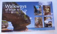 2017 NIUE WALKWAYS OF NIUE 4 STAMPS FIRST DAY COVER