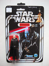 Vintage STAR WARS BEN KENOBI DARTH KENOBI CUSTOM on New Hope Style MOC
