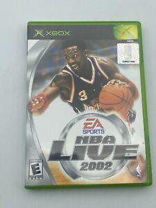 NBA Live 2002 Microsoft Original Xbox 2001 CIB Complete Basketball Video Game
