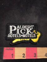 Vtg ALBERT PICK HOTELS MOTELS Advertising Patch 80NT
