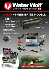Waterwolf 1.1 Caméra Sous-Marine Eau Wolf 4h HD Films Action Cam Max. 32Gb
