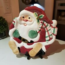~Charming Fitz and Floyd Santa Holiday Plate~ Cute~ Excellent~