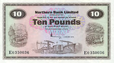 Northern Ireland Northern Bank P-189 10 pounds 1975 AU