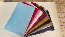 "GRAB BAG 10 sheets 8x12"" Super Glitter Heat Press thermal transfer vinyl HPV HTV"