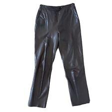 Dreske Somoff Vintage Dark Brown Size 10 Leather Pants with Pockets High Rise