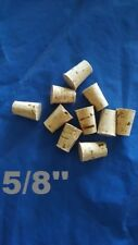 CORK stopper plug round tapered style crafts fishing lab wine all natural *5/8*