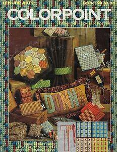 Vtg 1977 Colorpoint Needlepoint Patterns Leisure Arts Leaflet Craft Book #2030